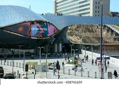BIRMINGHAM, UNITED KINGDOM - JUNE 6, 2016 - Entrance to New Street railway station, Birmingham, England, UK, Western Europe, June 6, 2016.