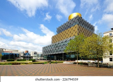 BIRMINGHAM, UNITED KINGDOM - MAY 14, 2014 - The Library of Birmingham, Centenary Square, Birmingham, England, UK, Western Europe, May 14, 2014.