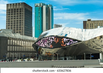 BIRMINGHAM, WEST MIDLANDS, ENGLAND - MAY 08, 2016: Grant Central shopping centre located in Birmingham city centre as a part of New Street station.