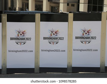 Birmingham, West Midlands, England, UK.  17 May 2018.  Advertisement for the 2022 Commonwealth Games.