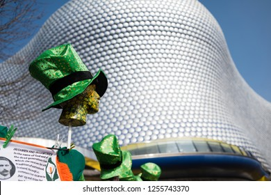 Birmingham,England,UK. March 13th 2015.Thousands of local people turn out to celebrate St Patrick's Day in the city centre.The day featured a parade and carnival in the Digbeth area of Birmingham.