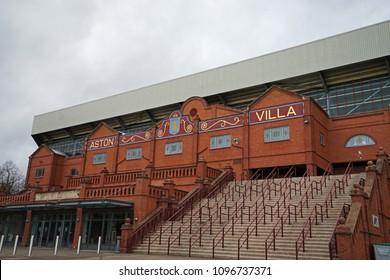 BIRMINGHAM,UNITED KINGDOM-DECEMBER 25,2017:Villa park football stadium,home of Aston Villa Football Club