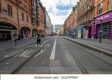 Birmingham,West Midlands/England - 23rd Sept 2019:Looking down Corporation st in Birmingham England