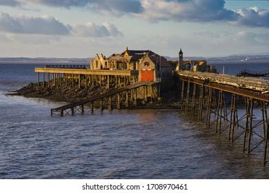 Birnbeck Pier Somerset Derelict Island Seascape
