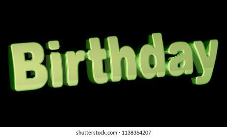 Birthday. 3D Illustration.