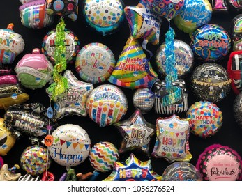 Birthday Balloons On Wall At Party City Saint Augustine Florida USA March 27