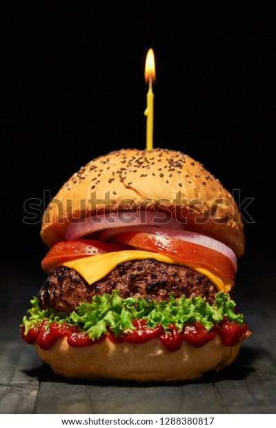 Astonishing Birthday Burger Cake Stock Photo Edit Now 1288380817 Funny Birthday Cards Online Inifofree Goldxyz