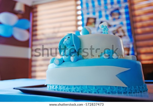 Phenomenal Birthday Cake 1 Year Old Boy Stock Photo Edit Now 572837473 Personalised Birthday Cards Cominlily Jamesorg