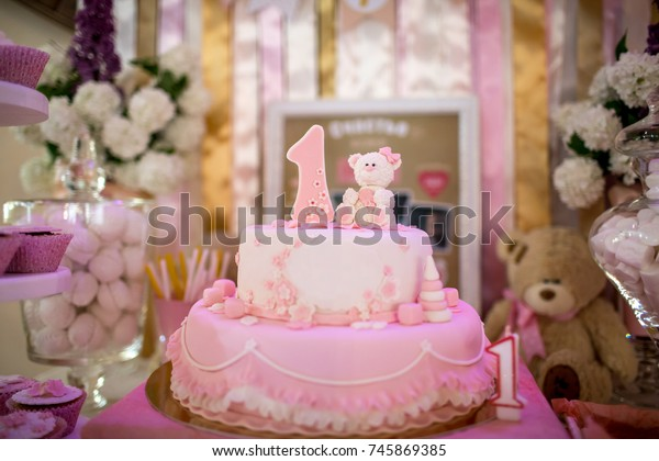 Admirable Birthday Cake 1 Year Old Child Stock Photo Edit Now 745869385 Funny Birthday Cards Online Inifodamsfinfo