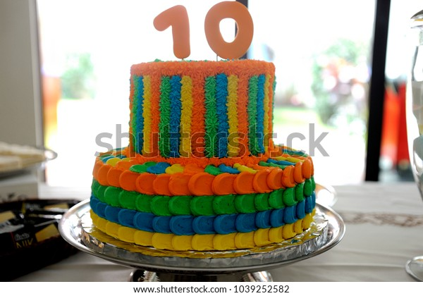 Surprising Birthday Cake 10 Year Old Boy Stock Photo Edit Now 1039252582 Funny Birthday Cards Online Barepcheapnameinfo
