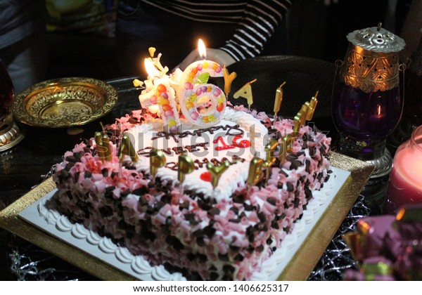 Pleasing Birthday Cake 16 Year Old Girl Stock Photo Edit Now 1406625317 Funny Birthday Cards Online Alyptdamsfinfo