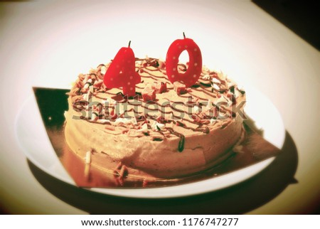 Birthday Cake With 40 Candle
