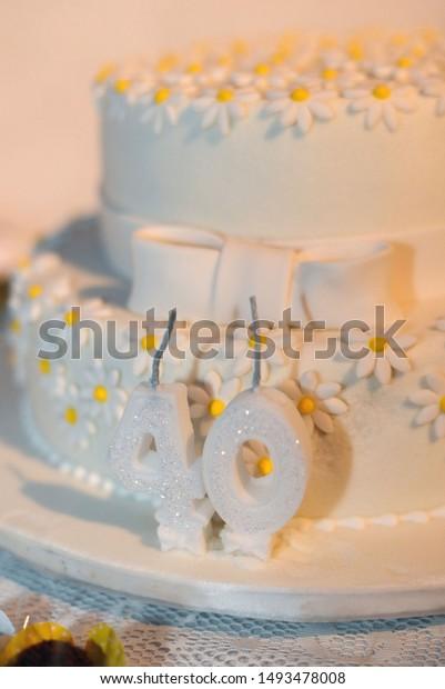 Groovy Birthday Cake 40 Years Old Stock Photo Edit Now 1493478008 Funny Birthday Cards Online Bapapcheapnameinfo
