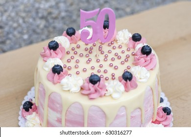 Awesome 50Th Birthday Cake Images Stock Photos Vectors Shutterstock Funny Birthday Cards Online Eattedamsfinfo