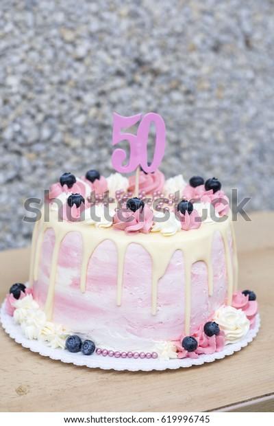 Brilliant Birthday Cake 50 Years Stock Photo Edit Now 619996745 Funny Birthday Cards Online Eattedamsfinfo