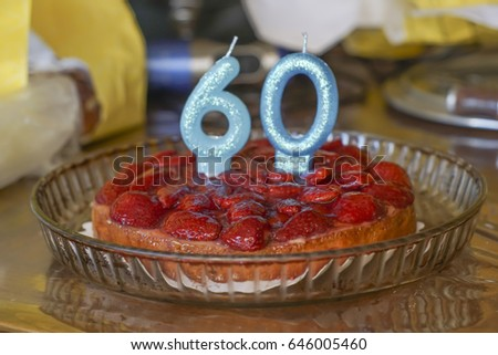 Birthday Cake Of 60 Years Old