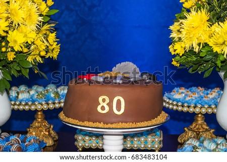 Birthday Cake 80 Years Old