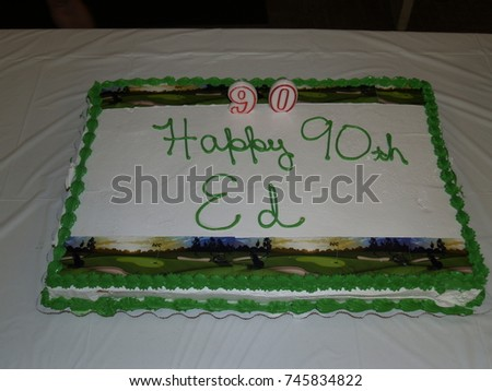 Birthday Cake 90 Years Old