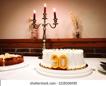 Birthday cake for the 90th birthday