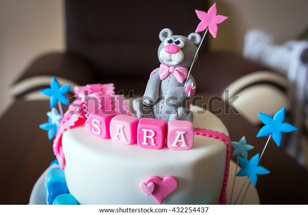 Pleasing Birthday Cake Baby Boy Girl Twins Stock Photo Edit Now 432254437 Birthday Cards Printable Trancafe Filternl