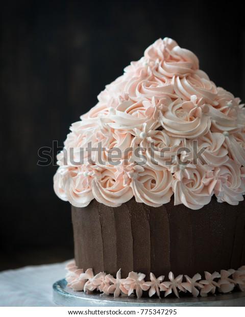 Miraculous Birthday Cake Beautiful Giant Cupcake Cake Stock Photo Edit Now Funny Birthday Cards Online Necthendildamsfinfo