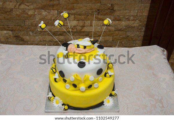 Wondrous Birthday Cake Bee Stock Photo Edit Now 1102549277 Funny Birthday Cards Online Inifofree Goldxyz