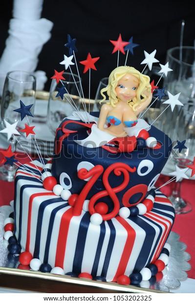 Pleasant Birthday Cake Blondie Stock Photo Edit Now 1053202325 Funny Birthday Cards Online Fluifree Goldxyz