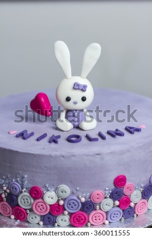 Birthday Cake With Bunny