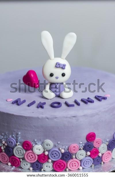 Brilliant Birthday Cake Bunny Stock Photo Edit Now 360011555 Birthday Cards Printable Riciscafe Filternl
