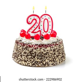 Remarkable 20Th Birthday Cake Images Stock Photos Vectors Shutterstock Birthday Cards Printable Benkemecafe Filternl