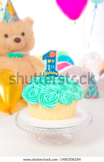 Awesome Birthday Cake Candle Colorful Balloons Candle Stock Photo Edit Funny Birthday Cards Online Amentibdeldamsfinfo