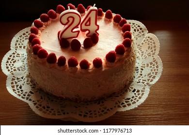 Prime 24 Birthday Cake Stock Photos Images Photography Shutterstock Funny Birthday Cards Online Kookostrdamsfinfo