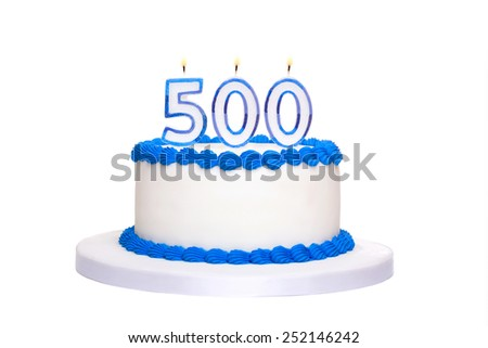 Birthday Cake With Candles Reading 500
