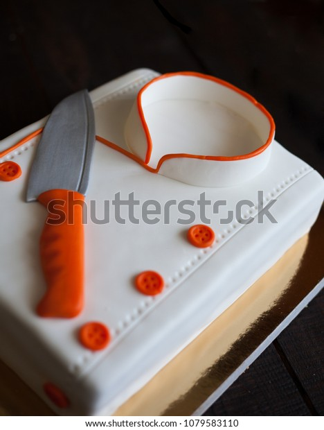 Marvelous Birthday Cake Chef Cake Mastic Delicious Stock Photo Edit Now Birthday Cards Printable Benkemecafe Filternl