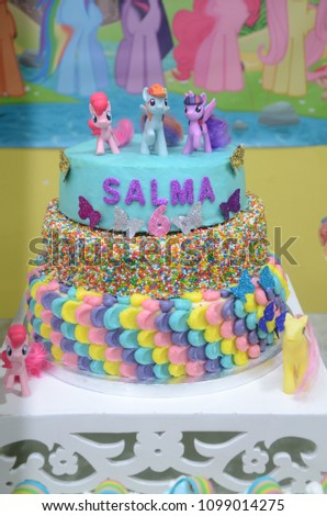 A Birthday Cake Decorated With Characters My Little Pony