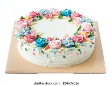 Tremendous Flower Cake Images Stock Photos Vectors Shutterstock Funny Birthday Cards Online Inifofree Goldxyz