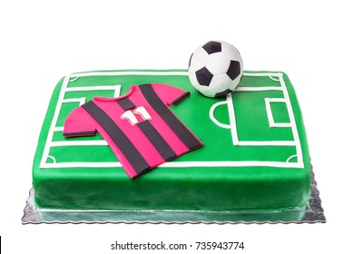 Strange Birthday Cake Soccer Images Stock Photos Vectors Shutterstock Funny Birthday Cards Online Aboleapandamsfinfo