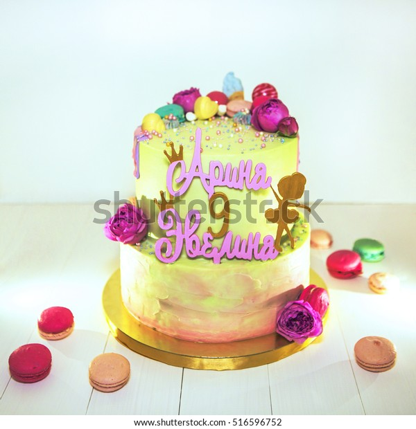 Wondrous Birthday Cake Girls Birthday Bright Gentle Stockfoto Jetzt Personalised Birthday Cards Paralily Jamesorg