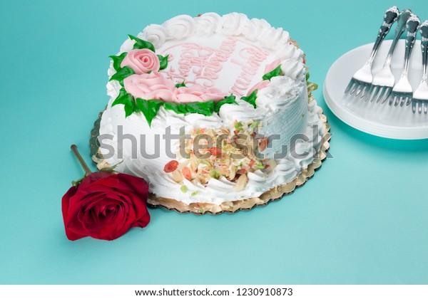Superb Birthday Cake Grandmother On Blue Background Stock Photo Edit Now Funny Birthday Cards Online Kookostrdamsfinfo