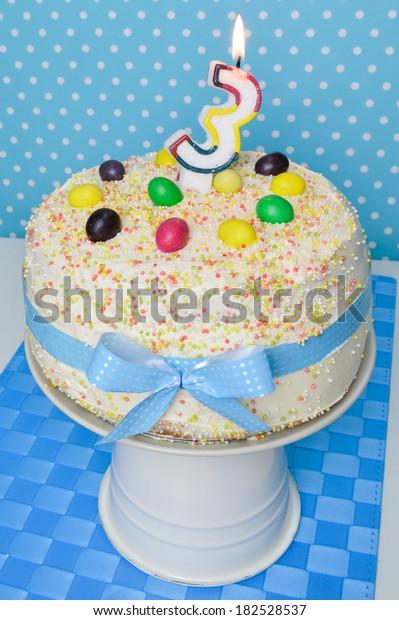 Awe Inspiring Birthday Cake Kids Party Birthday Cake Stock Photo Edit Now Personalised Birthday Cards Epsylily Jamesorg