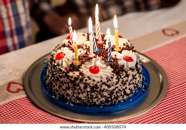 Swell Birthday Cake On Table Small Birthday Stock Photo Edit Now 400508074 Funny Birthday Cards Online Inifofree Goldxyz