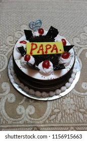 Birthday Cake With Papa Written On It