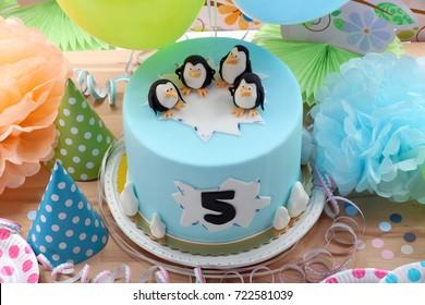 Brilliant Penguin Cake Images Stock Photos Vectors Shutterstock Funny Birthday Cards Online Aeocydamsfinfo