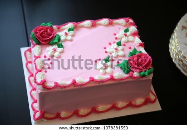 Fantastic Birthday Cake Pink Ice Cream Birthday Stock Photo Edit Now Birthday Cards Printable Giouspongecafe Filternl