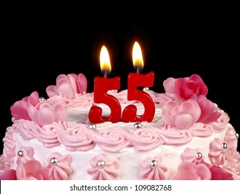 Incredible Birthday Cake Red Candles Showing Nr Stock Photo Edit Now 109082768 Funny Birthday Cards Online Inifofree Goldxyz