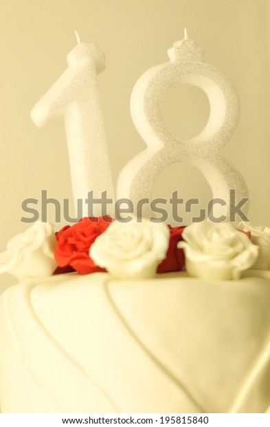 Brilliant Birthday Cake Red White Rose Decorations Stock Photo Edit Now Funny Birthday Cards Online Elaedamsfinfo