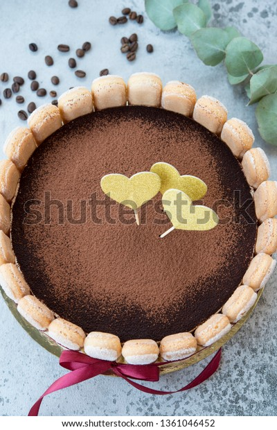 Amazing Birthday Cake Traditional Italian Tiramisu Dessert Stock Photo Funny Birthday Cards Online Amentibdeldamsfinfo
