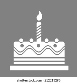 Birthday Cake Web Icon Stock Illustration 205160611 Shutterstock