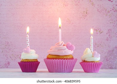 birthday cakes with candles