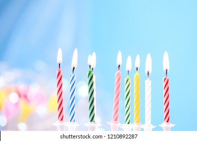 birthday candles closeup
